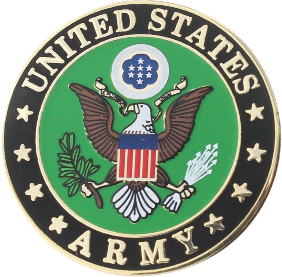 Officially Licensed US Army E Pluribus Unum Eagle Logo Round Insignia Pin 1\