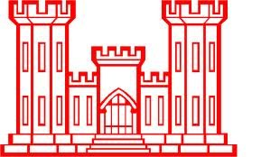 Military, Engineer Castle, Vinyl Car Decal, 'Red', '5.