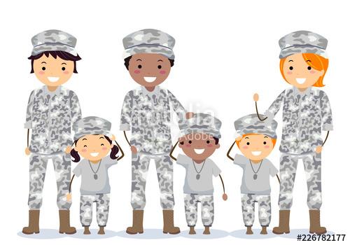 Senior Man Stickman Kids Veteran Illustration\