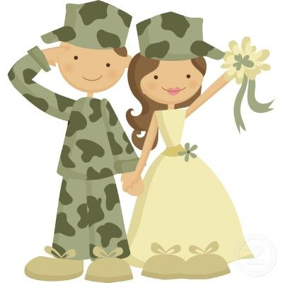 Soldier and Bride Wedding Cake Topper Standing Photo.