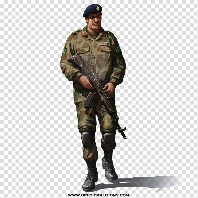 Man holding rifle illustration, Pakistan Army Military.