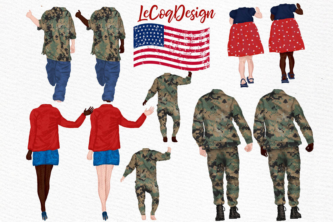Army Family Clipart Soldier clipart Man in uniform By.