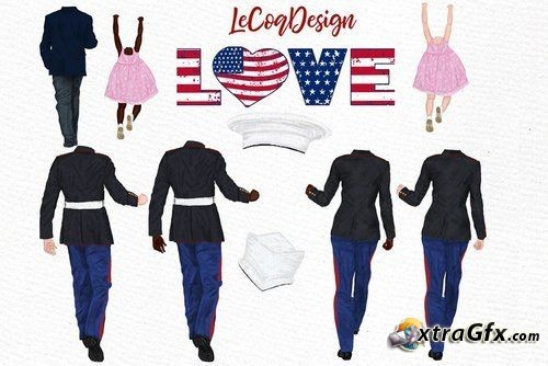 Army Family Clipart Military Couples.