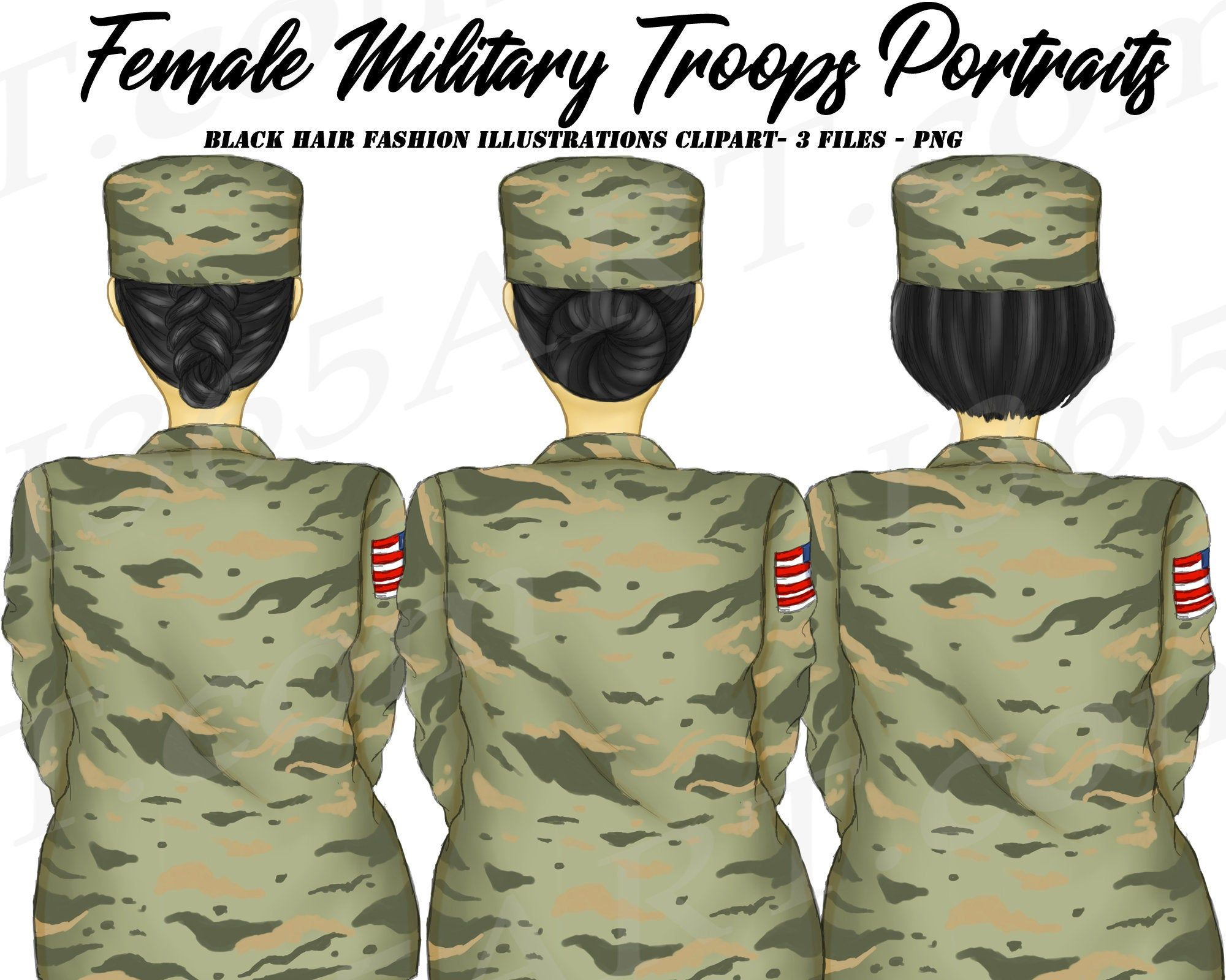 Military Woman Clipart, Army, Independence, Memorial Day.