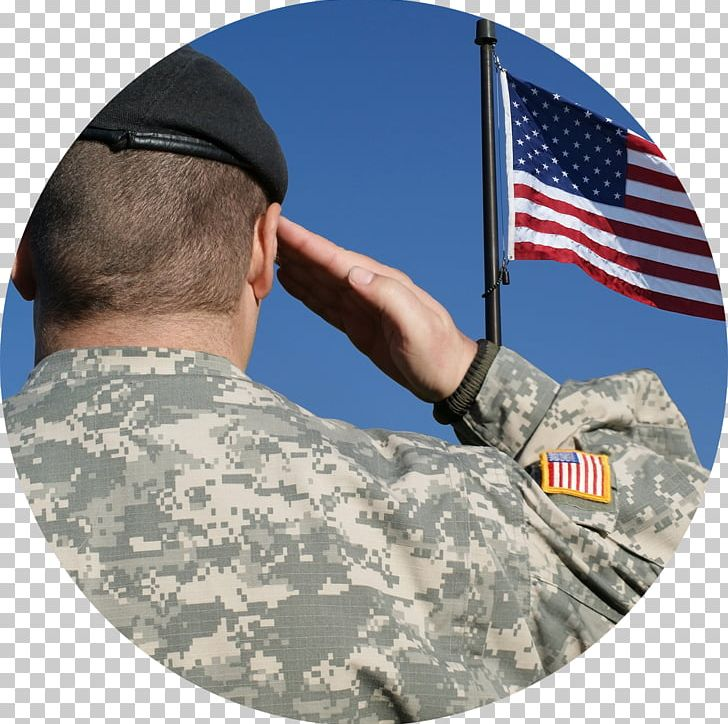 Flag Of The United States Salute Soldier Military PNG.