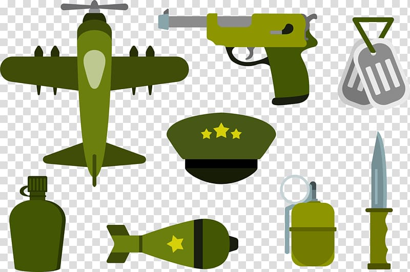 Airplane Army Military Soldier, Green army equipment.