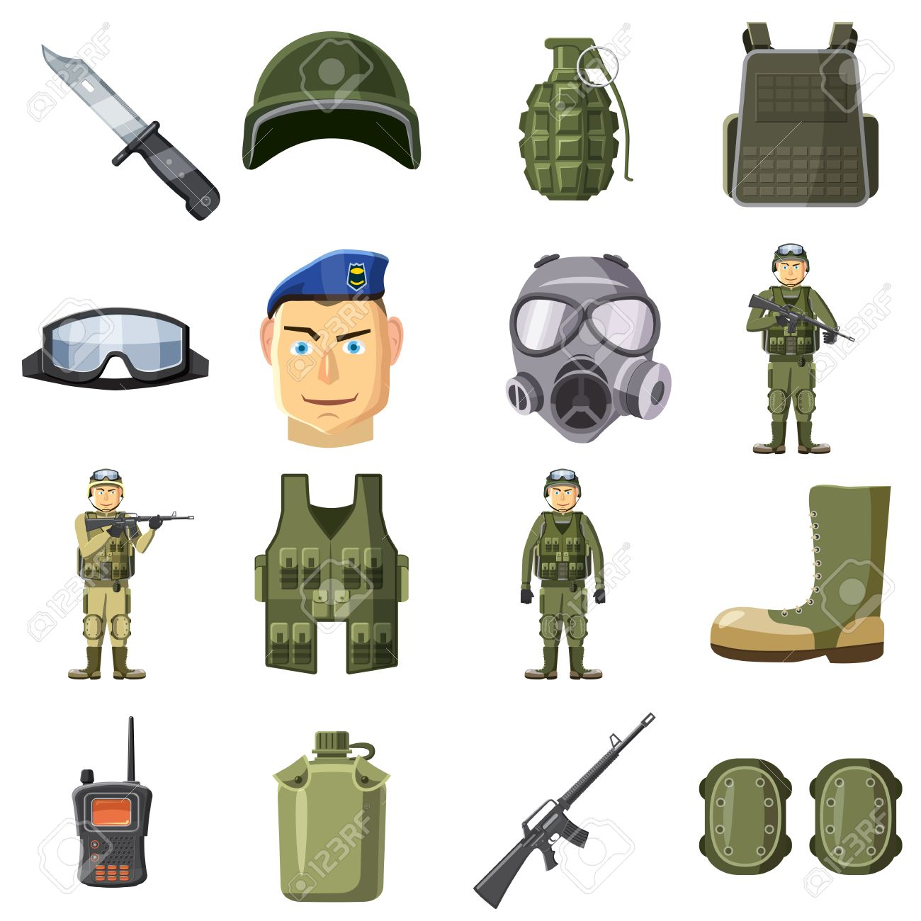 Army Equipment Clipart.
