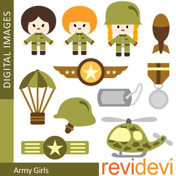Army Girls Clip art (military, soldier).