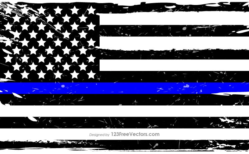 Blue and White American Flag in 2019.