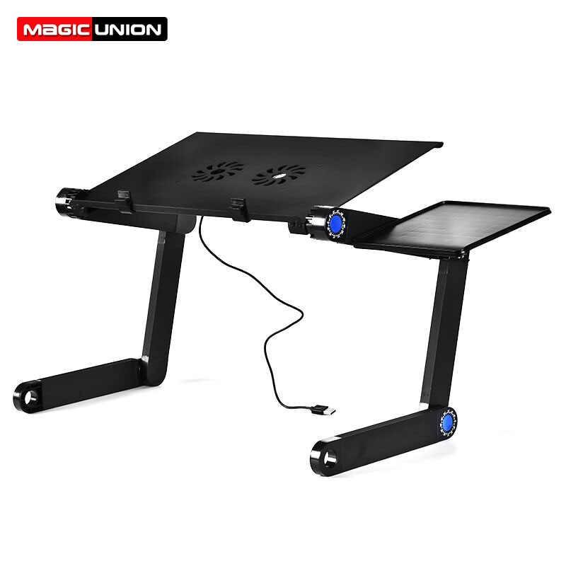 Magic Union Aluminum Alloy Laptop Table Folding Notebook.