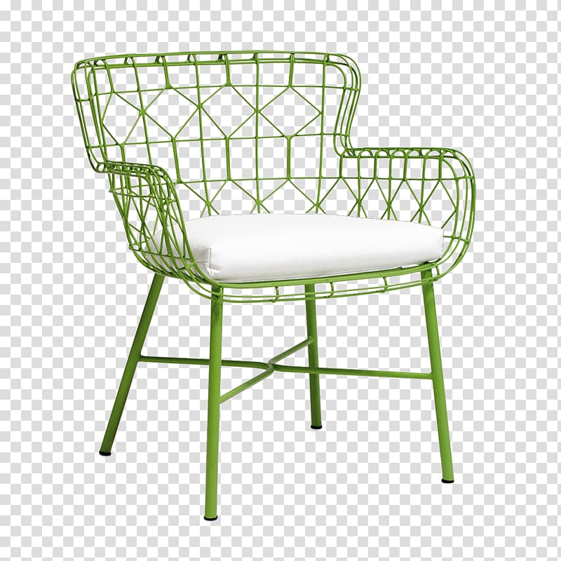 Wing chair Table Garden furniture, Green armchair.