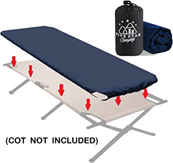 Fitted Camping Cot Sheet for Adult Sleeping Cots. Great for Hunting!  Camping Bedding That fits Most Army cots, Military cots, Travel cots and  Folding.