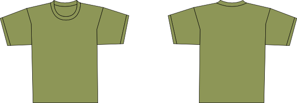 Army Green Shirt PNG Clip arts for Web.