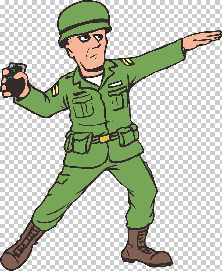 Animation War , A grenade soldier PNG clipart.