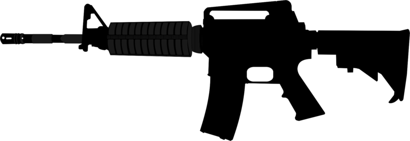 Gun Silhouette Clipart.