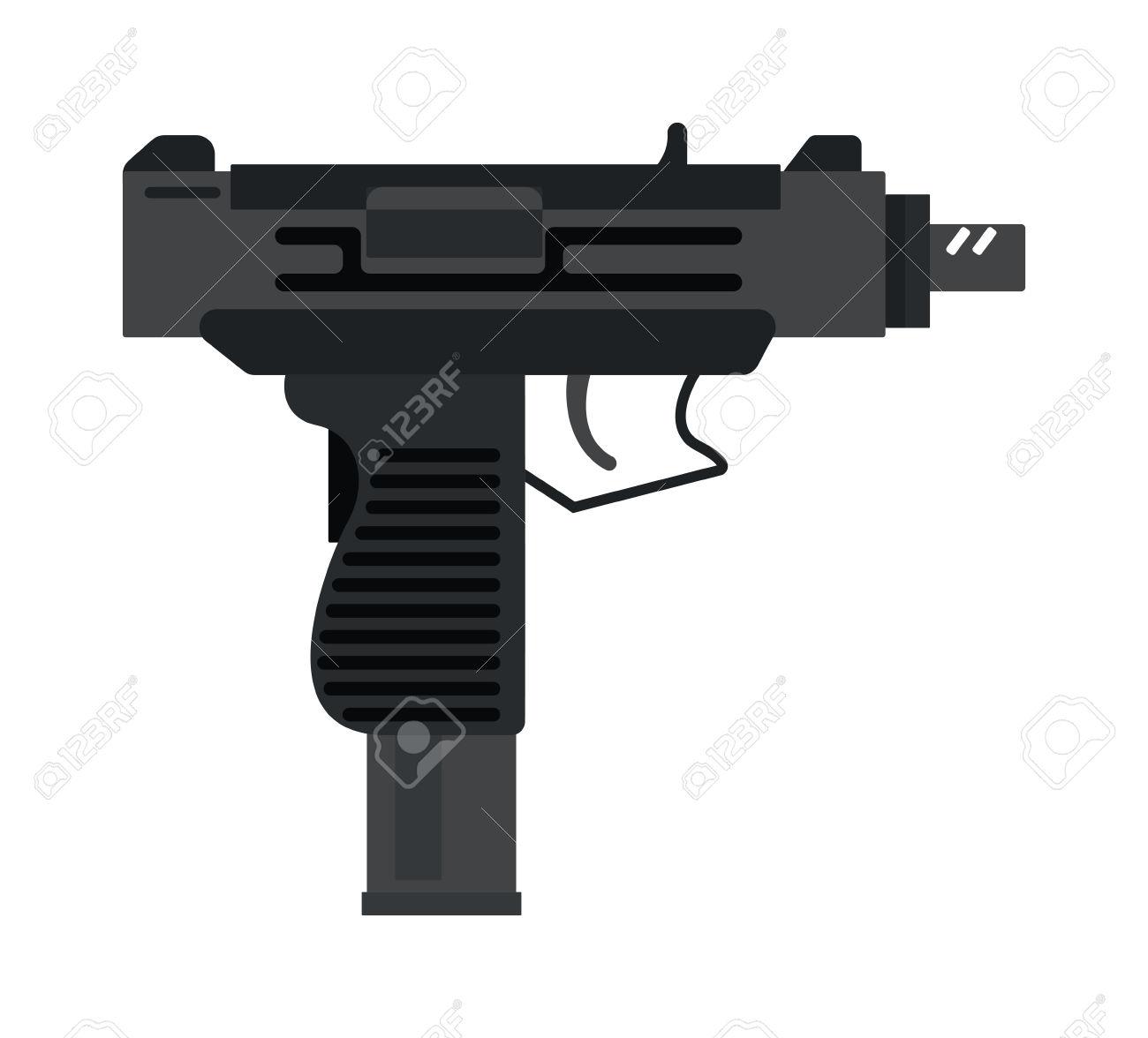 Army gun clipart black background.