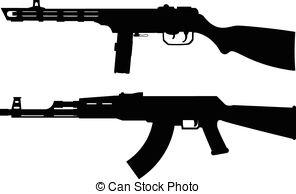 Machine gun clipart #5