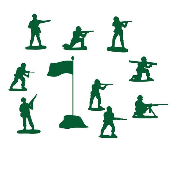 Army Men Clipart Military Navy Soldiers Flag / Printable.