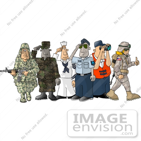 Military Branch Insignia Clipart.