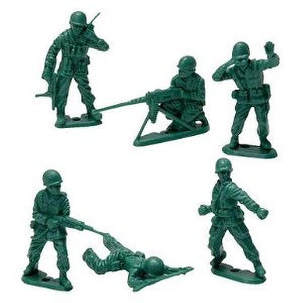 Green Army Men ,Pcs, Bag.