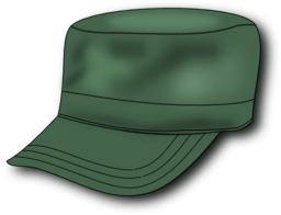 Color Wheel of Army Hat clipart.