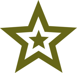 Military Star Clipart.