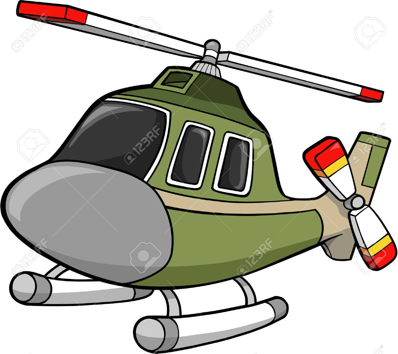 Army Helicopter Clipart to print.