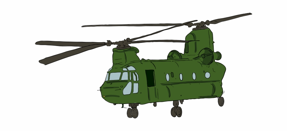 Free Chinook Helicopter Clip Art.