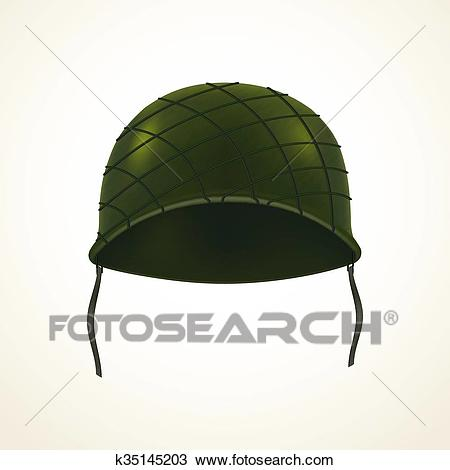 Realistic army helmet Clipart.