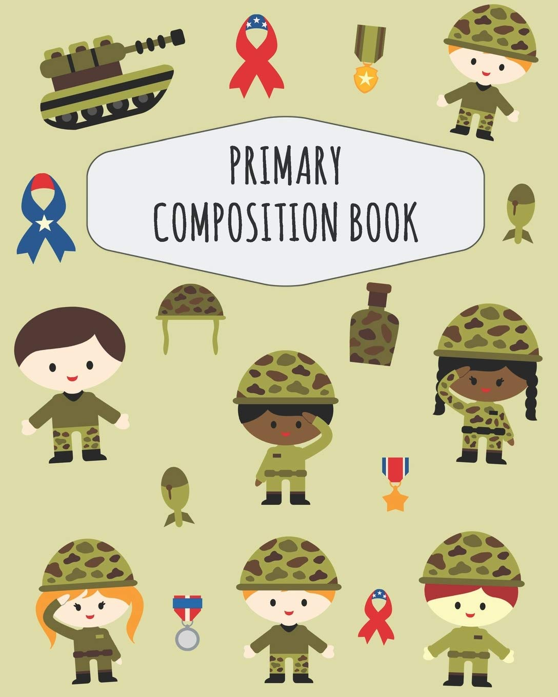 Soldier Primary Composition Book: Large Draw and Write Ruled.