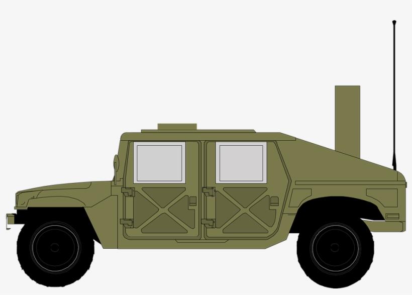 Drawn Tank Humvee Military.