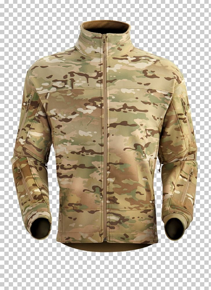 Operational Camouflage Pattern MultiCam Jacket Polar Fleece.