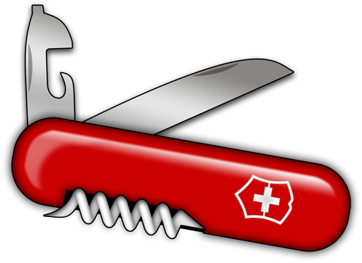 Swiss army knife clipart.