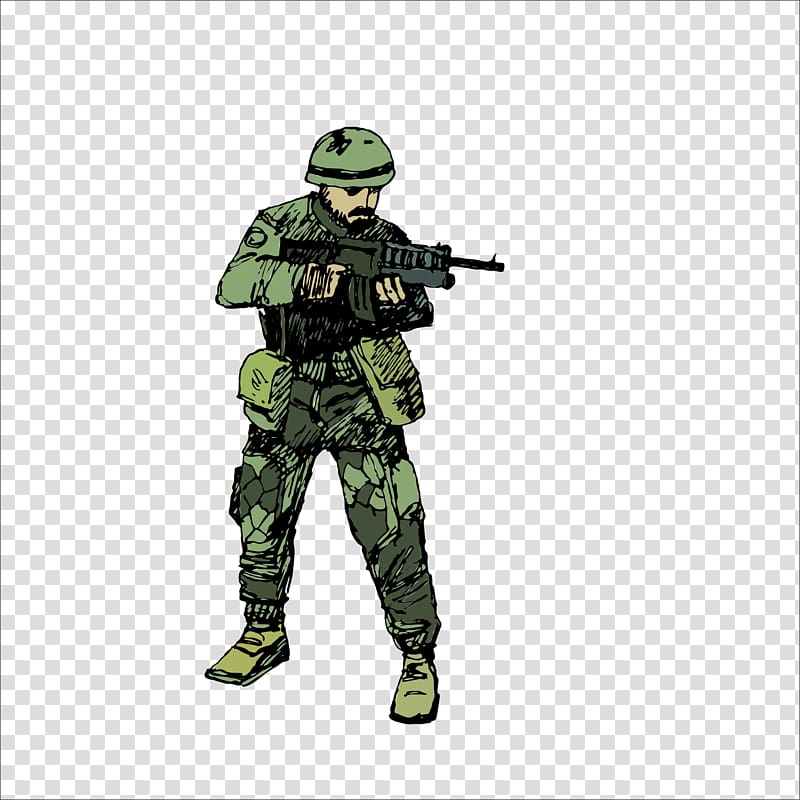 Man holding gun , Soldier Military Infantry Army, soldier.