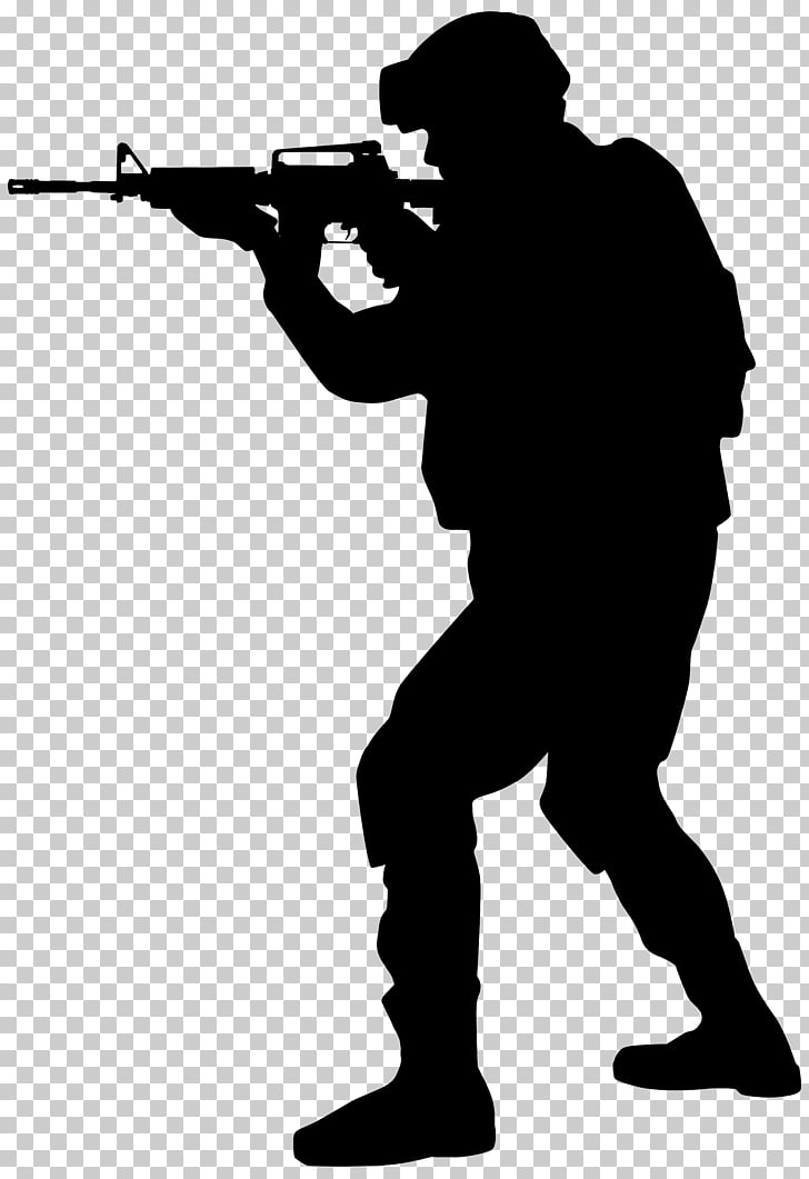 Silhouette Soldier Army , Soldier Silhouette s PNG clipart.
