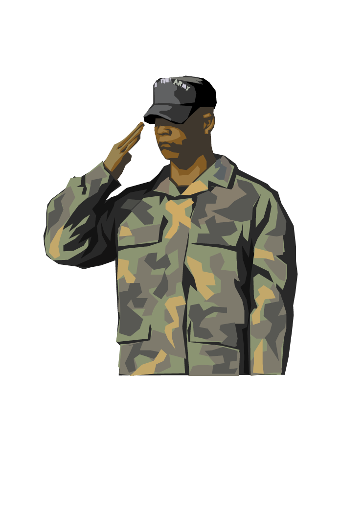 Soldier Salute Army Military Clip art.