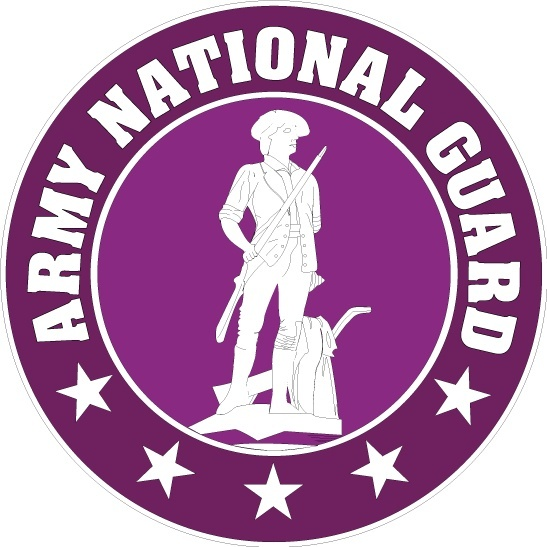 US army national guard logo Free vector in Adobe Illustrator.
