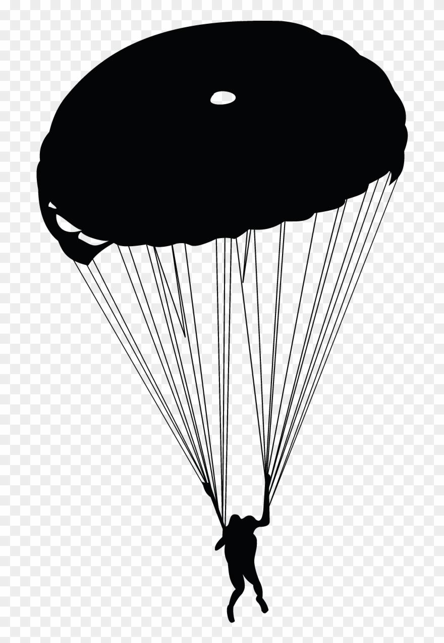 Banner Army Parachute Clipart.