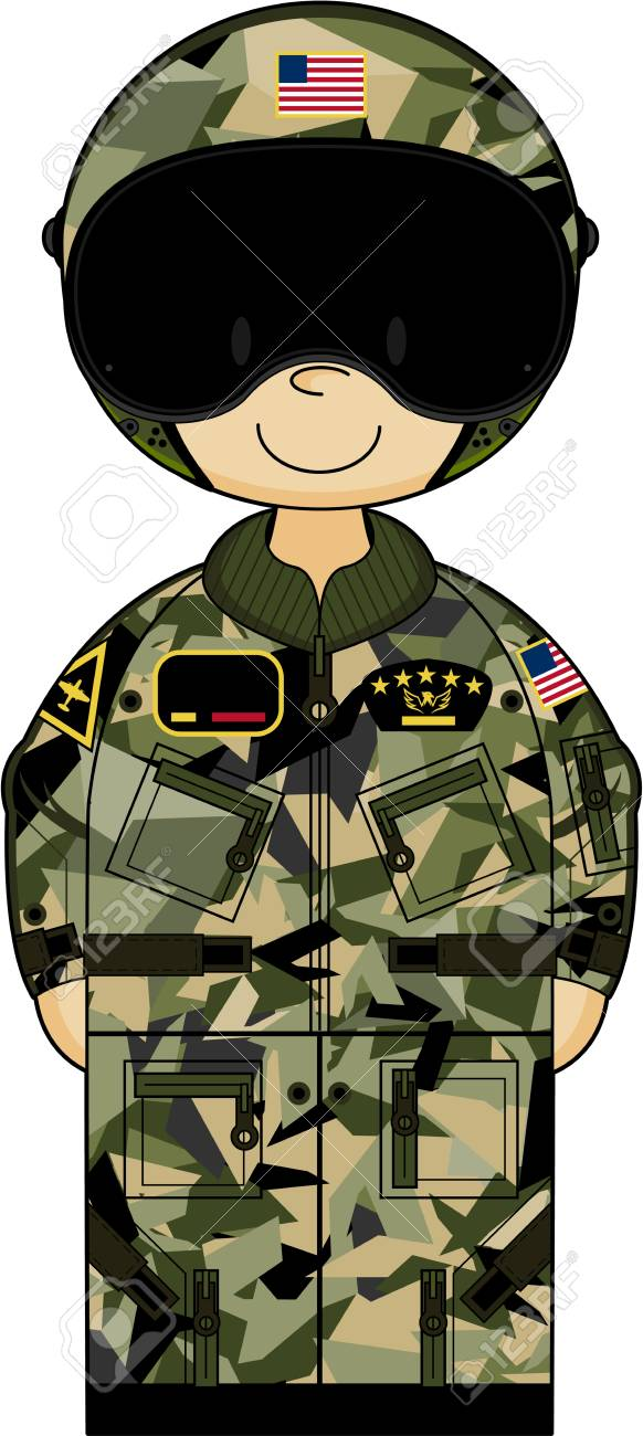 Air Force Soldier Clipart.