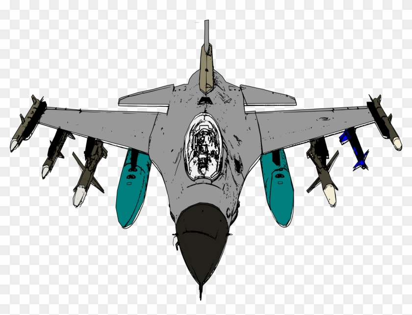 Jet Fighter Vector Art Image.