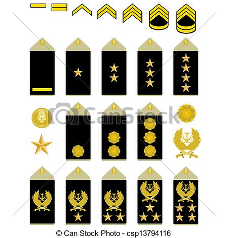Clipart of Insignia of the Iranian Army.