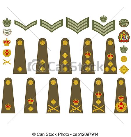 EPS Vector of British Army insignia.