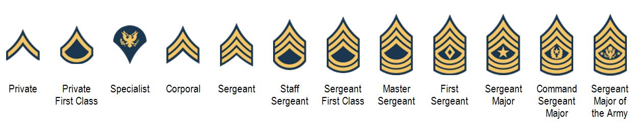 Military ranks: An introduction.