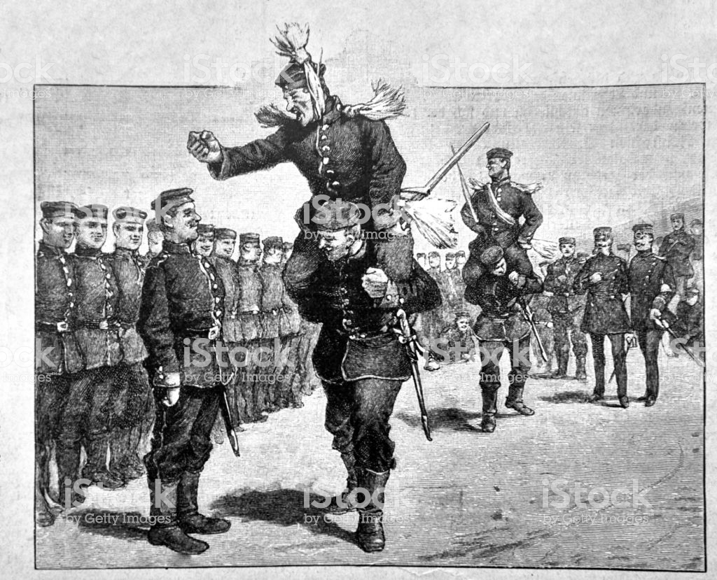 Recruiting Test For Acceptance Into The Prussian Army 1888.