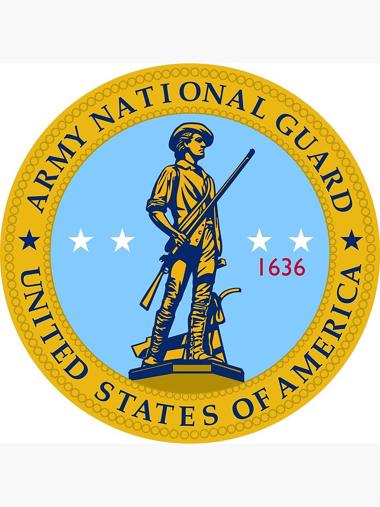 Army National Guard Seal Logo.