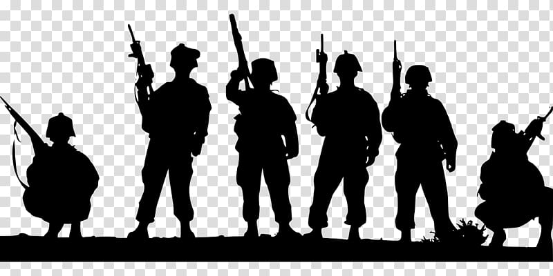 Soldier Silhouette Military , soldiers transparent.