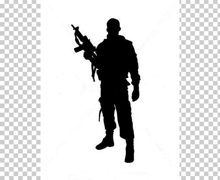 Soldier Silhouette Military PNG, Clipart, Army, Black And White.