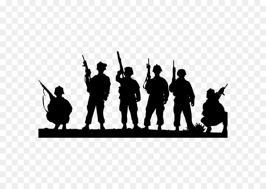 Soldier Silhouette png download.