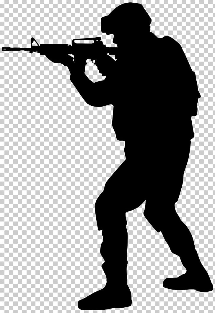 Silhouette Soldier Army PNG, Clipart, Angle, Army, Black And White.