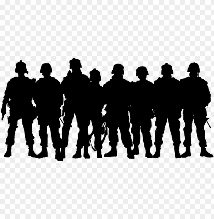 army silhouette png PNG image with transparent background.